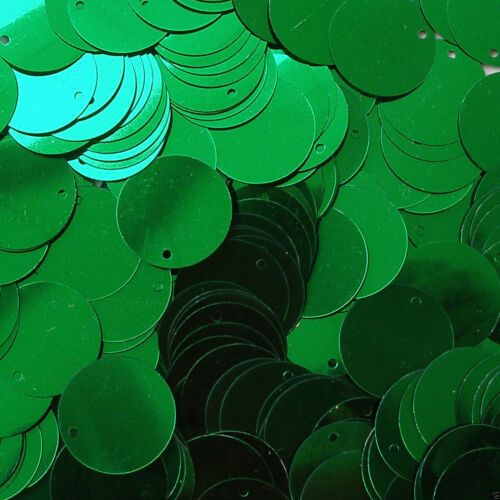 25/% Discount pieces Loose Sequins Kelly Green 30mm Paillettes Flat ~50 or ~250