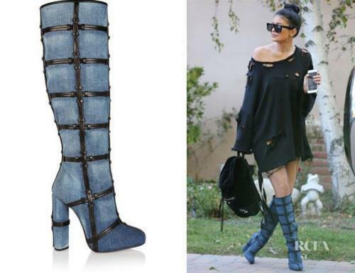 Auth NIB $3K Tom Ford Patchwork Denim & Leather Knee High Boots 38 39 39.5 40 41