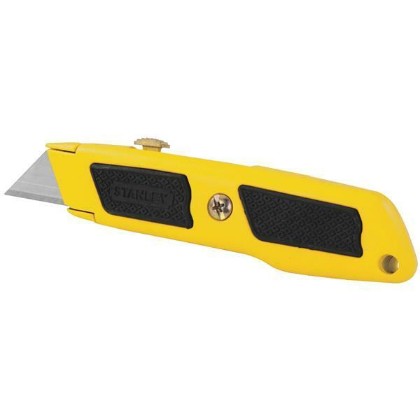 (36)-Stanley 6  Long Steel Dynagrip Retractable Straight Utility Knife 10-779