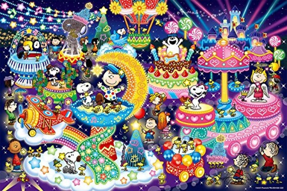 1000 Piece Jigsaw Puzzle  PEANUTS Snoopy Illuminations Glowing Puzzle 50 x 75 cm  ordinare on-line
