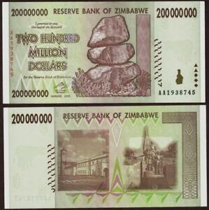 2008 Zimbabwe 500,000 Dollar Bank Note-UNC Cond-A50