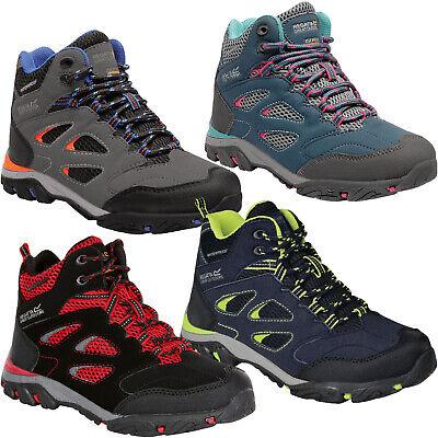 Regatta Childrens Holcombe IEP Mid Junior Waterproof Walking Boot Black//Neon