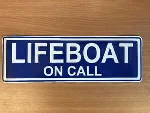 Magnetic sign LIFEBOAT ON CALL crew retained vehicle emergency response