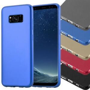 Custodia-per-Samsung-Galaxy-protezione-coperchio-metallico-Matt-colori-PARAURTI-IN-SILICONE-TP