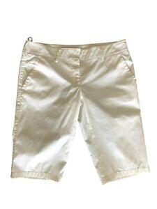 PRADA SPORT CLASSIC WHITE BERMUDA SHORTS, 42, $695