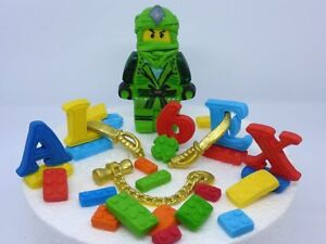 Image Is Loading Lloyd LEGO Ninjago Edible Handmade Age Name Birthday