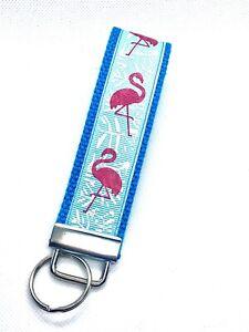 Lobster Ribbon Key Fob Wristlet Mini Key Fob