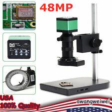 Electron Microscope 48mp Hdmi Industrial Camera Full Hd Digital Zoom Equipment