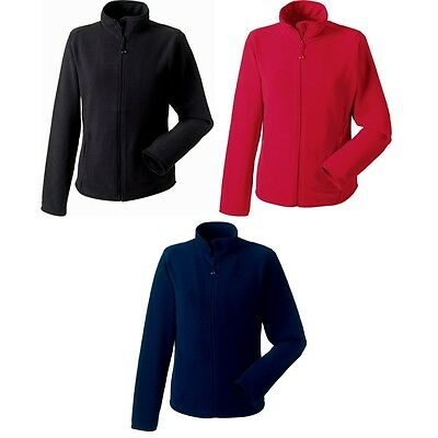 Russell Europe Womens Ladies Full Zip Fitted Micro Anti Pill Fleece Jacket