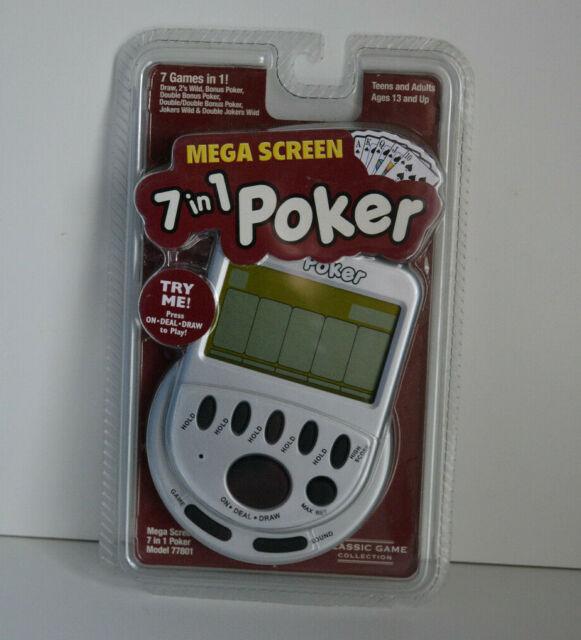 Mega Screen Solitaire /& Mega screen 7 in 1 poker  Handheld Gam
