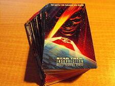 STAR TREK INSURRECTION BASIC SET OF 72 CARDS