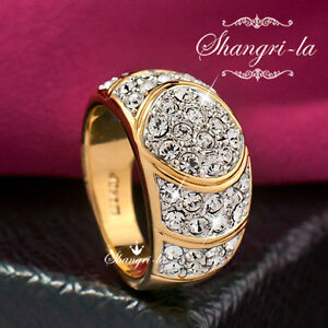 0530-18K-YELLOW-GOLD-GP-Womens-Full-CRYSTAL-COCKTAIL-RING-with-SWAROVSKI-DIAMOND