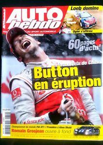 Auto Hebdo Du 21/04/2010; Gp De Chine; Button En éruption/ Romain Grosjean/ Loeb