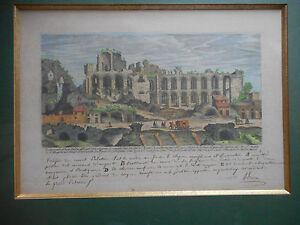 Gravure Ancienne.ruines Romaines.vue Du Mont Palatin.xviii°.
