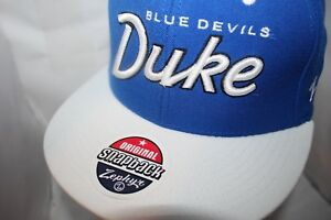 Duke-Blue-Devils-Zephyr-NCAA-Headliner-2-Tone-Snapback-Cap-Hat-31-99-NEW