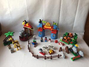 LEGO-Duplo-Zoo-Set-Deluxe-5635-grosser-Zoo-Tiere-Stadtzoo-komplett-amp-TOP