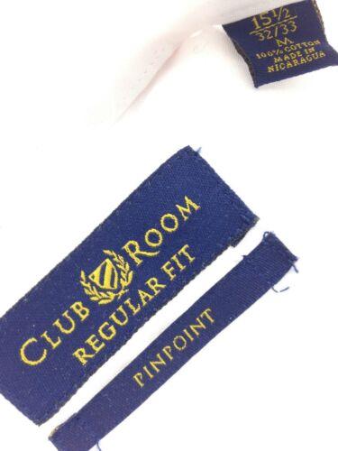 $85 CLUB ROOM Men REGULAR FIT WHITE LONG-SLEEVE CASUAL DRESS SHIRT 15.5 32//33 M