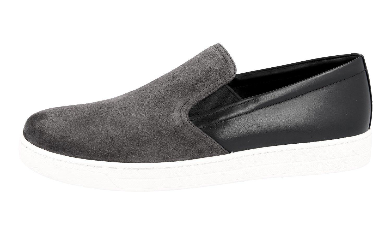 Luxe Prada 4d2733 Sneaker Chaussures 4d2733 Prada gris daim Neuf New 9,5 43,5 44 23fe45