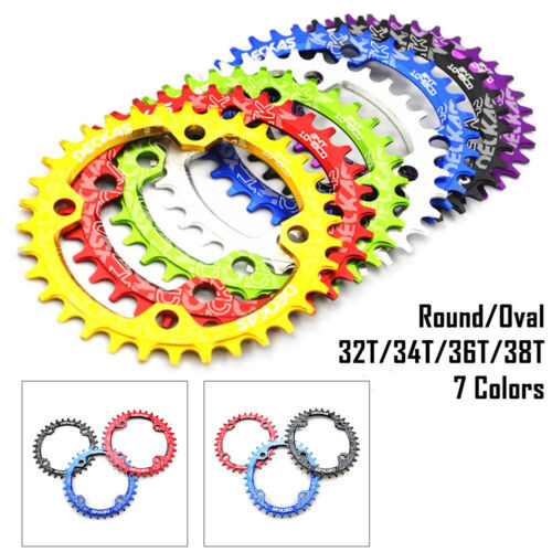BCD 104mm 32//34//36//38T Bike Narrow Wide Round Oval Chainring Ring For DECKAS