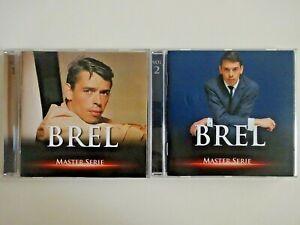 JACQUES-BREL-MASTER-SERIE-BEST-OF-VOL-1-amp-2-lot-2-x-CD-Album