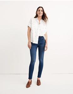 Madewell Roadtripper High Rise Skinny Jeans Denim in Orson Wash Sz 24