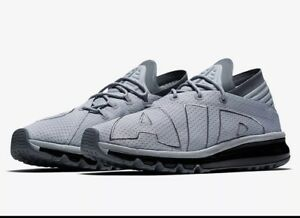 10dee15974 NIKE Air Max Flair Running Shoes Mens Size 10 Wolf Grey Cool Grey ...