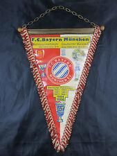 Alter F. C. Bayern München XXL WIMPEL ca. 39,5 cm Deutsche Pokalsieger 1957-1986
