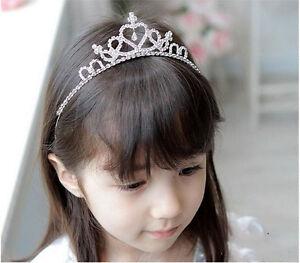 Crystal-Rhinestone-Tiara-Hair-Band-Kid-Girl-Bridal-Princess-Prom-Crown-Headband