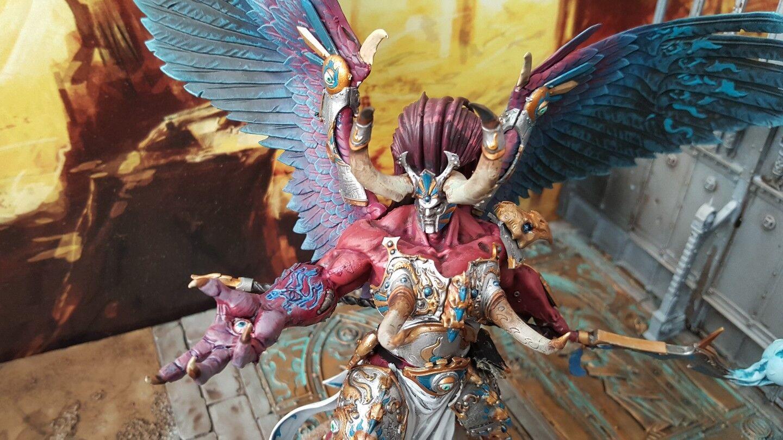 Pro pintado warhammer Primarch Magnus el Rojo. mil hijos