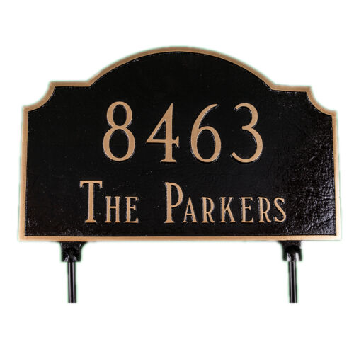 Two Sided Address Plaque Lawn House Sign Numbers Custom Made Order Vanderbilt