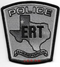 "Hereford  E.R.T., TX  (3.75"" x 4"" size)  shoulder police patch (fire)"