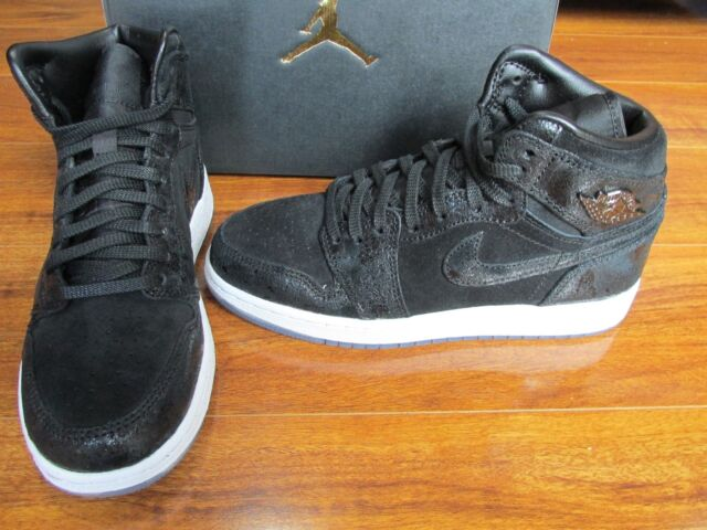 wholesale dealer 9f407 ee6c5 NEW NIKE AIR JORDAN 1 RETRO HIGH PREM GS SHOE BLACK WHITE RED HEIRESS  832596 001