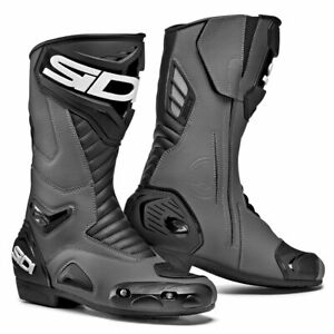 Sidi-Performer-CE-Moto-Motorcycle-Bike-Boots-Grey-Black
