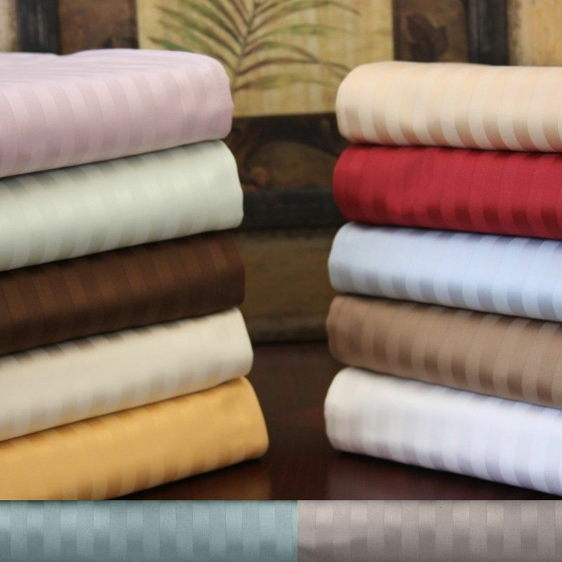 1000TC Egyptian Cotton Luxurious Bedding Collection Queen Size Stripe colors