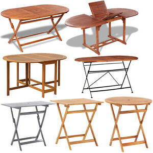 Folding Dining Table Acacia Wood Garden Kitchen Table Bistro Table Furniture New Ebay