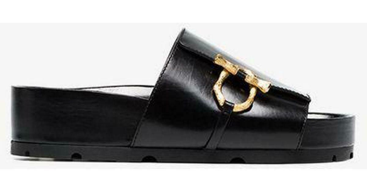 900 CELINE BOXY CALFSKIN FLAT MULE WITH JEWELS 50 mm PLATFORM SANDAL SIZE 36