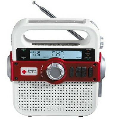 Eton Solarlink Self Powered Emergency Radio Weather Flashlight Phone Charger New