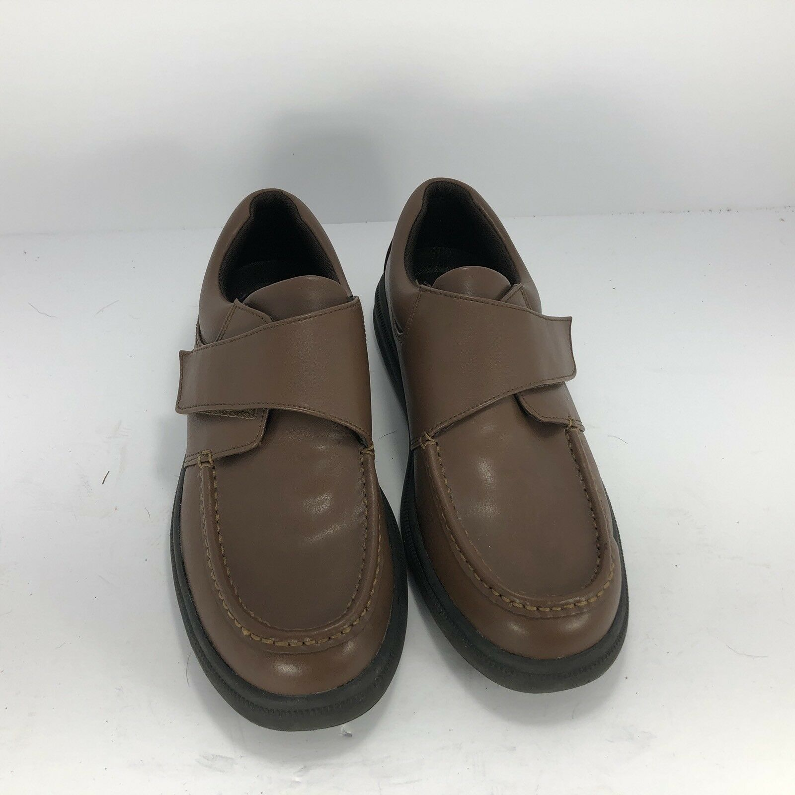 Hush Puppies GIL H18801 Mens Tan Leather Slip On Single Strap Comfort shoes
