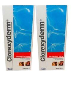Clorexyderm 200ml Shampooing Désinfectant Forte Pour Chiens Et Chats