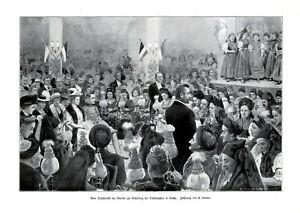 Trachtenfest in Gotha XL Kunstdruck 1907 Verein zur Erhaltung der Volkstrachten
