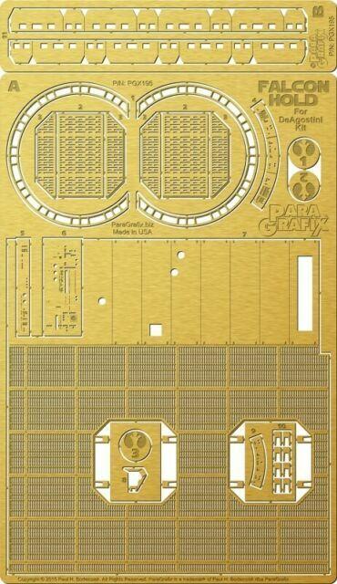 Paragrafix 1//43 Deagostini Millennium Falcon Principale Hold Photo-Etch /& Decal