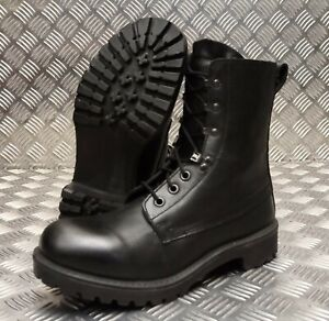 Genuine-British-Army-Issue-S8-Black-Leather-Combat-Assault-Boots-Commando-New