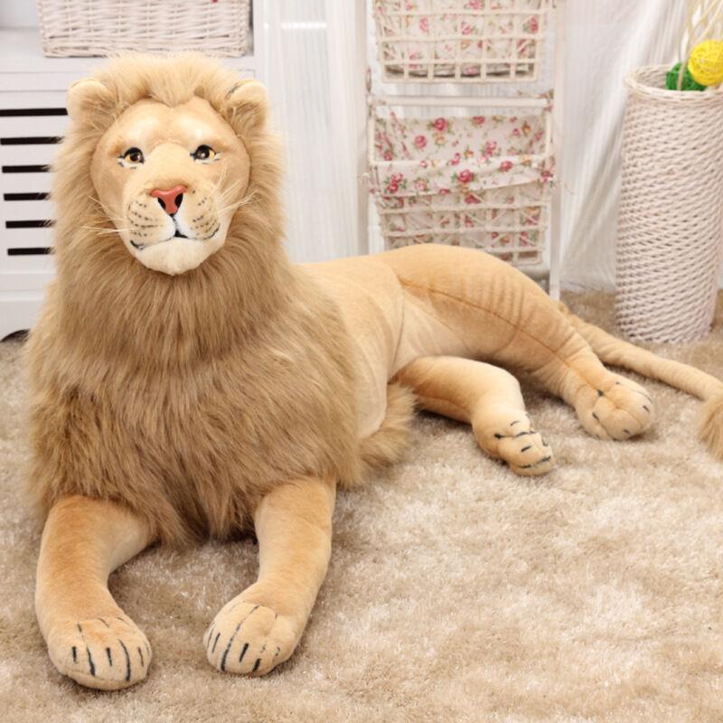 Lion plush toy The lion simulation static animal model model model lion Toy doll gift 110CM add50f