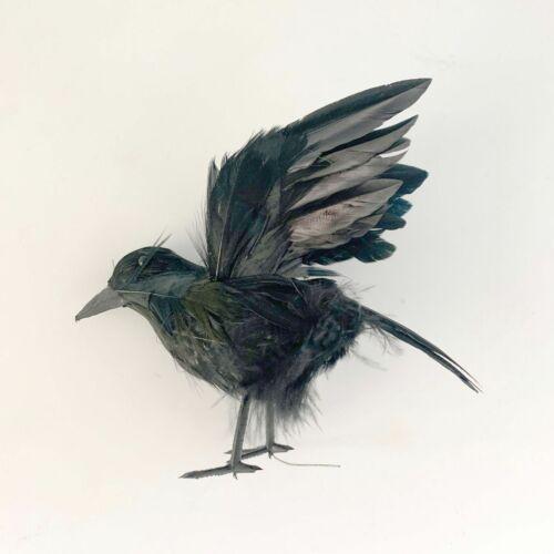 Black Lifesize Raven Movie Prop Fake Crow Halloween Fake Bird Hunting Decor he`