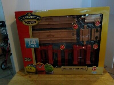 CHUGGINGTON TRACK PACK Wooden Railway Train Track 16 Pieces Learning Curve 56902