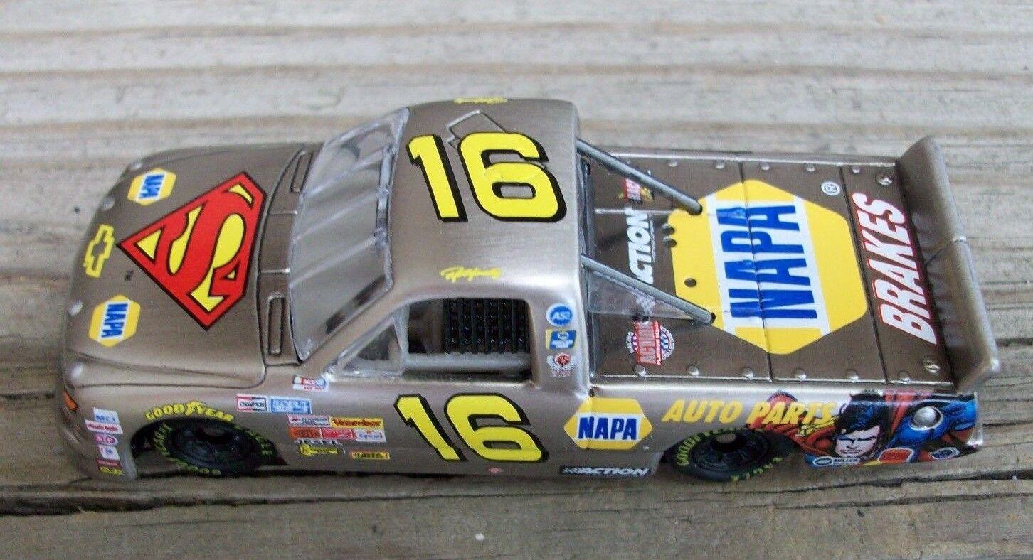 Nascar Ron Hornaday Raw Bare Metal Superman Diecast Racing Toy Race Car 1 64