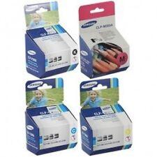 4 Color Genuine Samsung CLP-300n CLX-2160n CLX-3160fn Printer Toner Cartridges