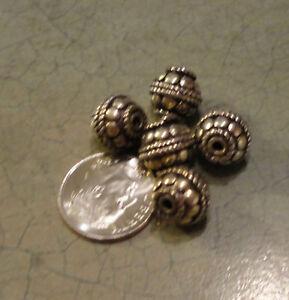 2125 Sterling Silver Big Bali Beads 9m X 8m 2 Pk Ebay