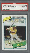 1980 Topps Rickey Henderson Athletics PSA 9 RC HOF