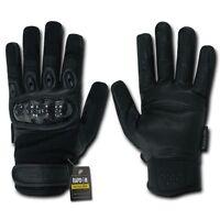 Black Carbon Fiber Gloves Hard Knuckle Tactical Combat Bug Out Survival